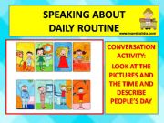 English powerpoint: conversation about daily routine.