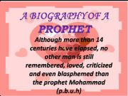 English powerpoint: A Biography Of A Prophet