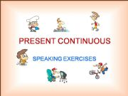 English powerpoint: PRESENT CONTINUOUS  –  POWERPOINT EXERCISES  – PART 1b / 2
