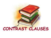 English powerpoint: Contrast Clauses