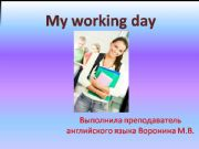 English powerpoint: My working Day