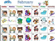 English powerpoint: A calendar with lots of activities (4 seasons) to practise speaking/writing