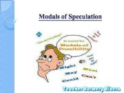 English powerpoint: Modals of Speculation