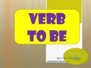 English powerpoint: verb to be