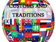 English powerpoint: CUSTOMS AND TRADITIONS IN ENGLISH SPEAKING COUNTRIES