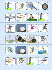 English powerpoint: Sports bingo 15 cards and list included