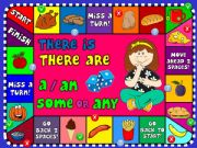 English powerpoint: There is / There are - boardgame
