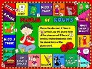 English powerpoint: Plural of nouns - boardgame