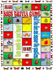 English powerpoint: Bugs Trivia Board Game