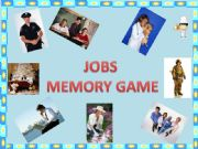 English powerpoint: Jobs - memory game