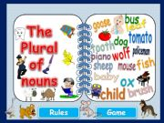 English powerpoint: PLURAL NOUNS - Rules & Game