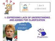 English powerpoint: Expressing lack or understanding and asking for clarification