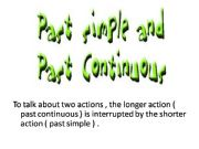 English powerpoint: While + past continuous, simple past
