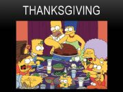 English powerpoint: Thanksgiving