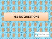 English powerpoint: Yes-No Questions (short answers)