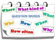 English powerpoint: QUESTION WORDS. SIMPLE PRESENT.