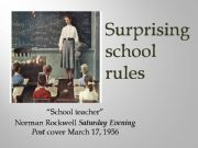 English powerpoint: Surprising school rules