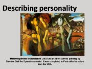 English powerpoint: Describing personality game