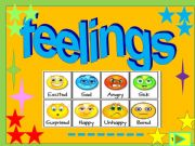 English powerpoint: Feelings /multiple choice game
