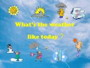 English powerpoint: weather powerpoint