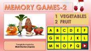 English powerpoint: Memory (Matching) games SET2 - VEGETABLES, FRUIT