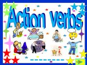 English powerpoint: Action verbs :55 slide  quiz