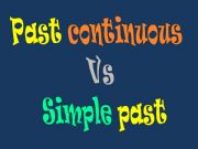 English powerpoint: Simple past Vs. past continuous