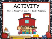 English powerpoint: SCHOOL OBJECTS GAME with sound