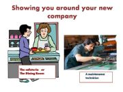 English powerpoint: Technical English: Showing you around your new company - Vocabulary