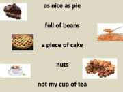 English powerpoint: Food sayings