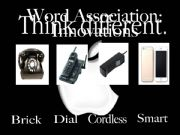 English powerpoint: WORD ASSOCIATIONS: INNOVATIONS (Apple Company theme)