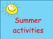 English powerpoint: Summer Activities