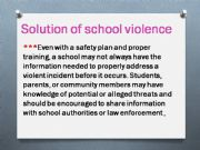 English powerpoint: School violence( part 2)    roles of teachers and solutions