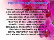 English powerpoint: School violence (part 3)   how to reduce violence at schools  with Prevention workshops + conclusion