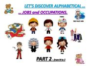 English powerpoint: JOBS and OCCUPATIONS : vocabulary and exercises - part 2 From N to Z