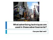 English powerpoint: advertising techniques