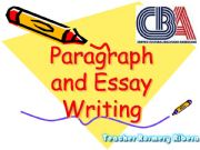 English powerpoint: Argumentative Paragraph Writing