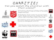 English powerpoint: KINDNESS #3 - CHARITIES