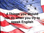 English powerpoint: What to avoid when trying to speak English