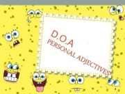 English powerpoint: Adjectives of personality