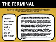 English powerpoint: THE TERMINAL #2 BOARDING PROCEDURES EXERCISE