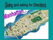 English powerpoint: Giving and asking for directions - Manhattan