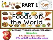 English powerpoint: Food and drinks around the world - part 1