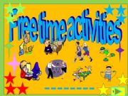 English powerpoint: Free time activities multiple choice activity with animation