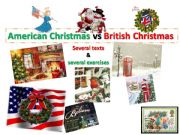 English powerpoint: American Christmas vs British Christmas