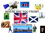English powerpoint: Where are you from?