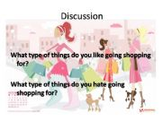 English powerpoint: Shopping Discussion Questions