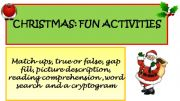 English powerpoint: Christmas Activities