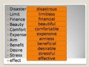 English powerpoint: Wordbuilding (adjectives)
