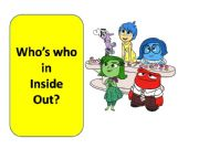 English powerpoint: Who´s who? Inside Out